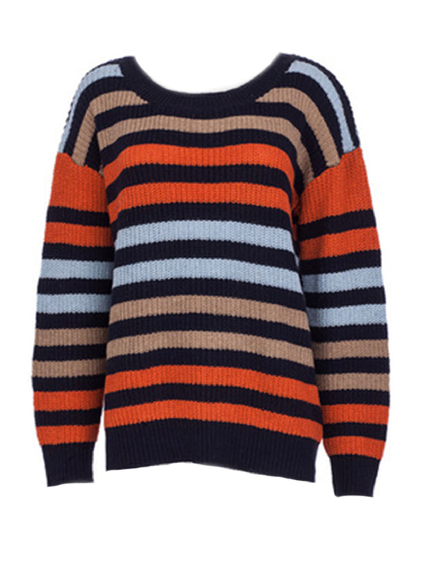 'Bryce' Color block Vintage Knit Sweater (3 Colors)