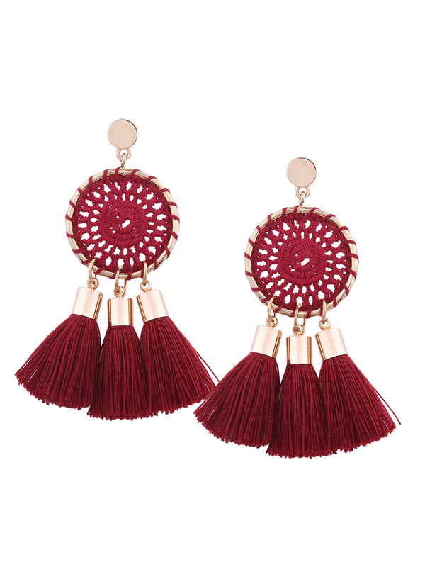 'Scottie' Dream Catcher Tassel Drop Earrings