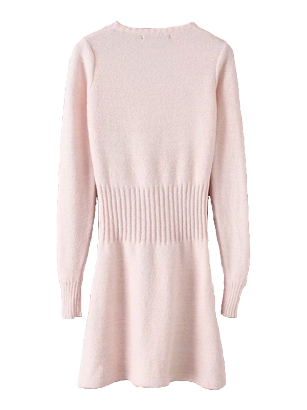 'Jeanette' Cable Waist Sweater Dress