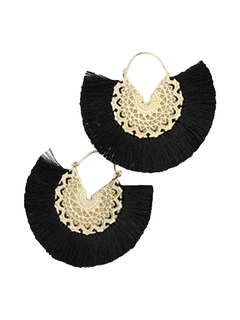 'Molly' Tassel Boho Drop Earrings