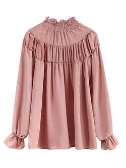 'Robin' Fungus Collar Blouse (2 Colors)