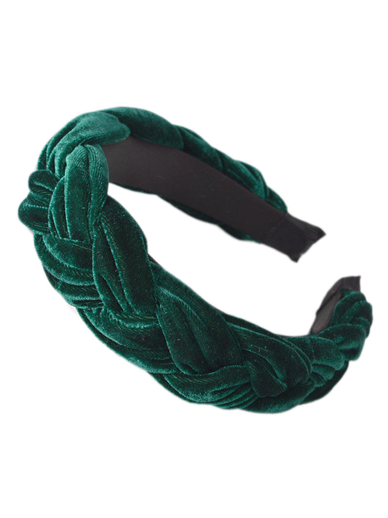 'Irena' Velvet Braided Headband (6 Colors)