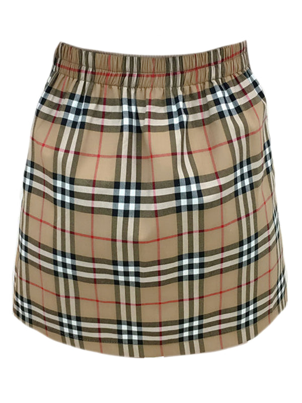 'Tiffany' Plaid Elastic Waist Skirt