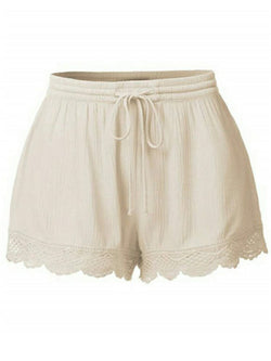 'Jennie' Lace Pleated Tied Casual Shorts (6 Colors)