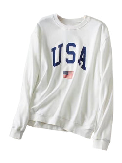 'Candy' USA Logo Sweatshirt (2 Colors)