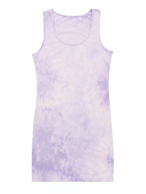 'Venchi' Tie Dye Tank Dress (5 Colors)