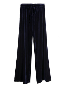 'Debbie' Velvet Wide Leg Pants (5 Colors)