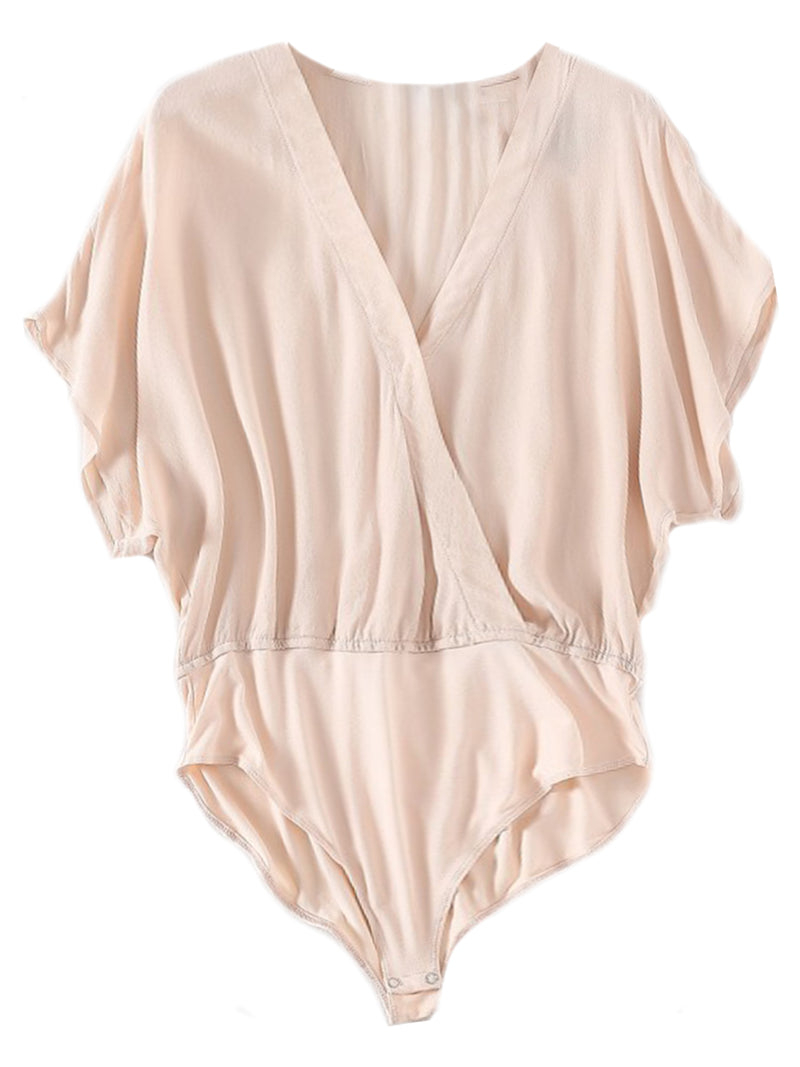 'Terry' Wrap Flare Bodysuit (3 Colors)
