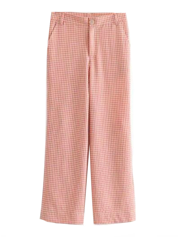'Reese' Gingham Crepe Pants