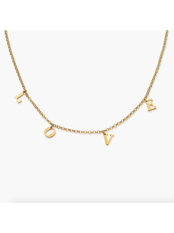 'Una' Personalized Name Necklace