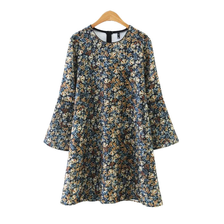 'Ophelia' Floral Bell Sleeve Dress