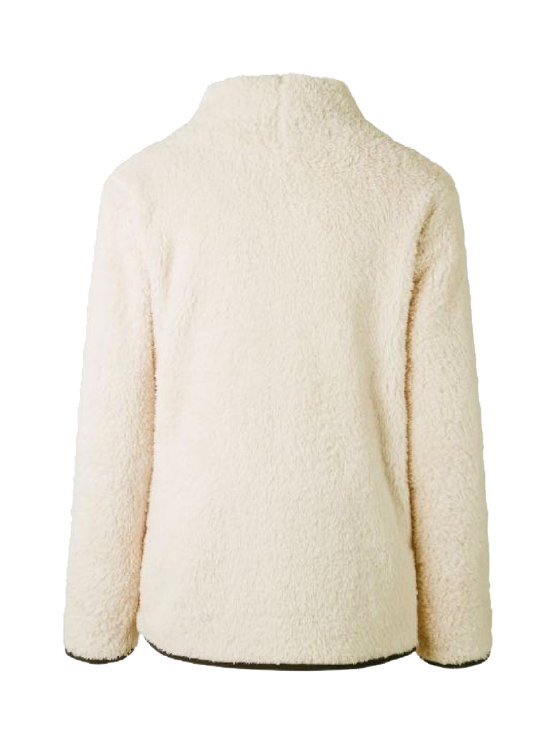 Goodnight Macaroon 'Catalina' Cream Sports Fleece Pullover Back