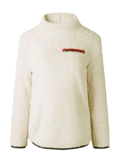 Goodnight Macaroon 'Catalina' Cream Sports Fleece Pullover Front