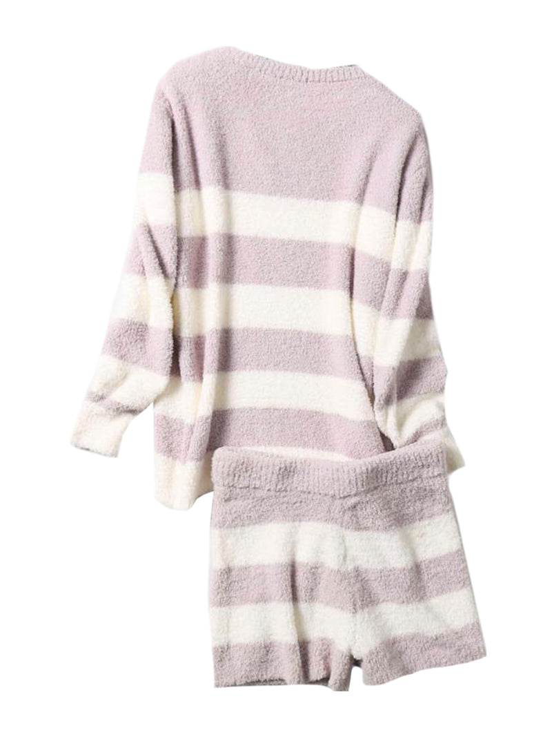 'Kiki' Cozy Striped Loungewear Set