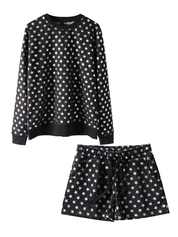 'Marie' Star Pattern Loungewear (2 Colors)