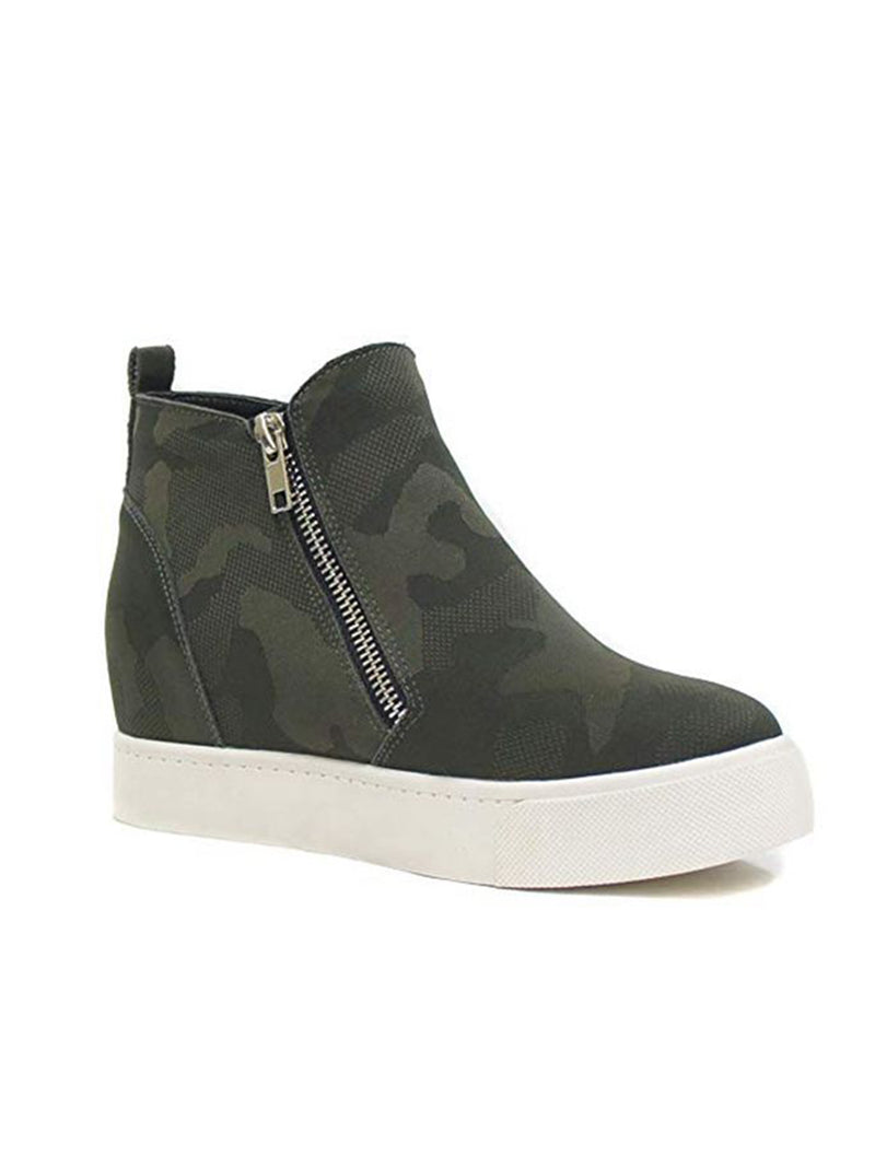 'Pollie' Faux Suede Wedge Sneakers (5 Colors)