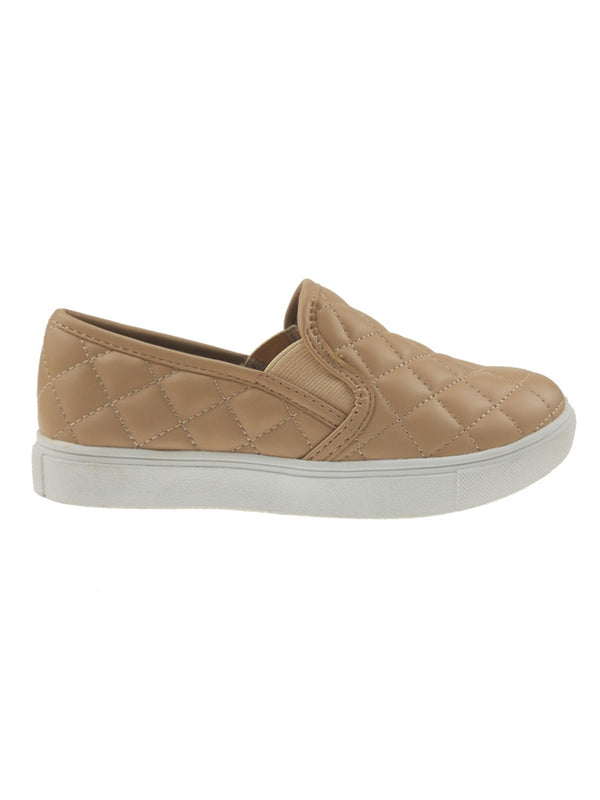 'Queen' Quilted Faux Leather Slip-on Sneakers (4 Colors)