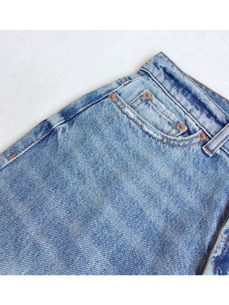 'Babe' Distressed High Waist Mom Jeans