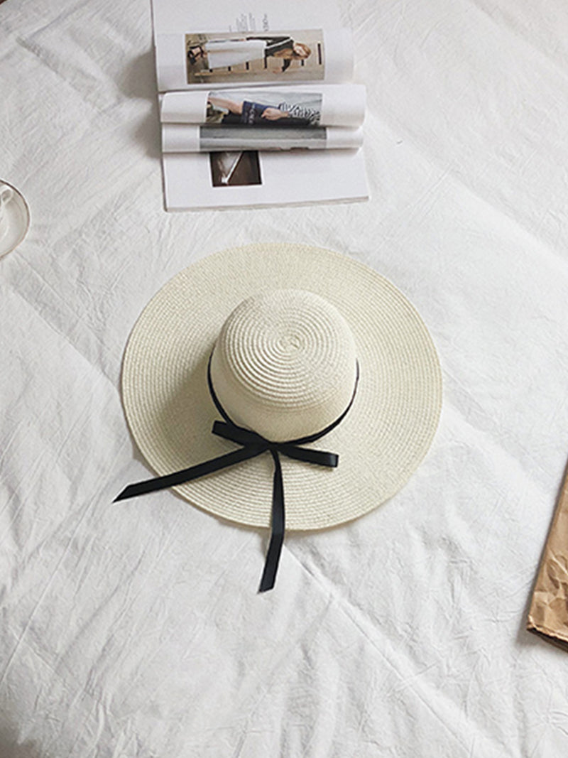 'Didi' Ribbon Rattan Hat (3 Colors)