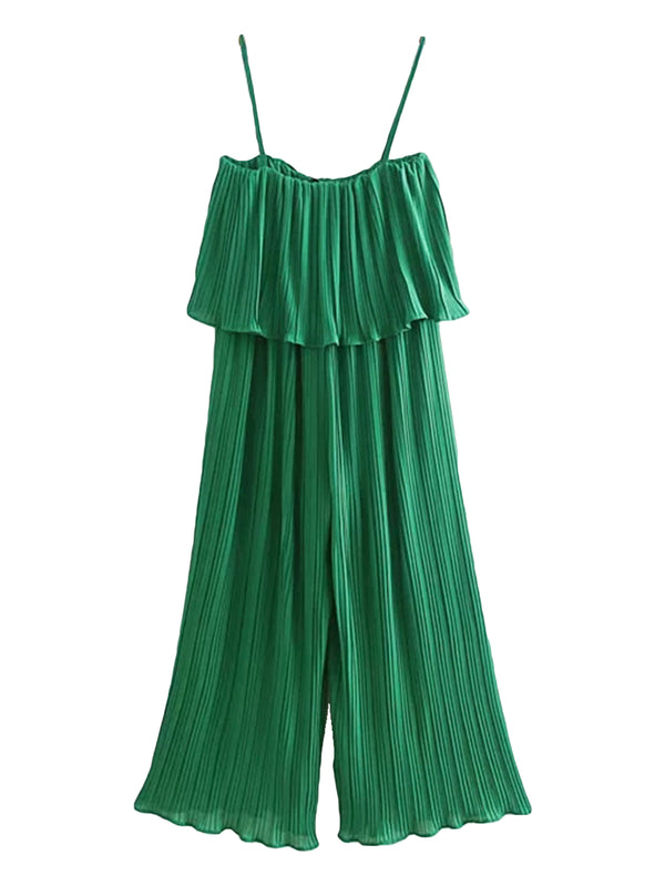 'Sally' Chiffon High Waisted Swing Jumpsuit