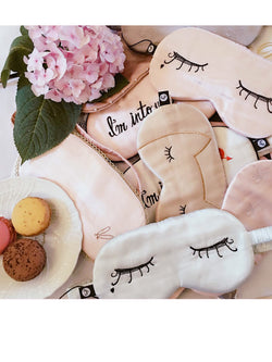 'Suki' Cute Lashes Silk Eye Mask (4 Colors)