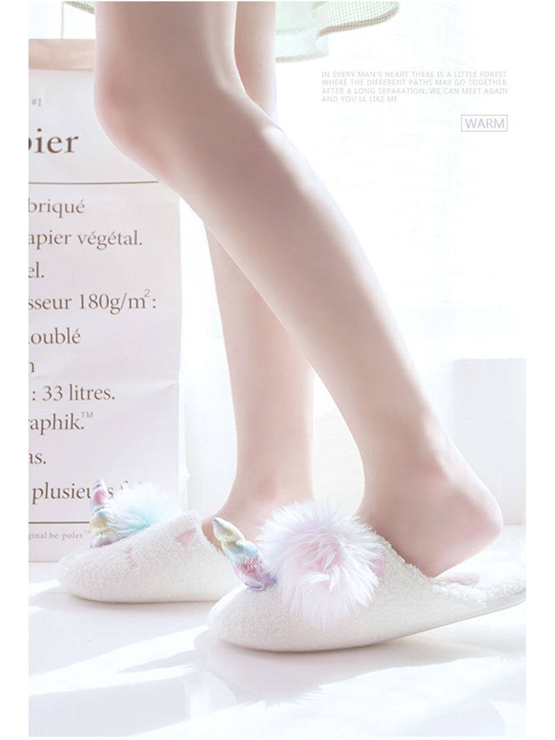 'Uni' Soft Fluffy Unicorn Bedroom Slippers (3 Colors)