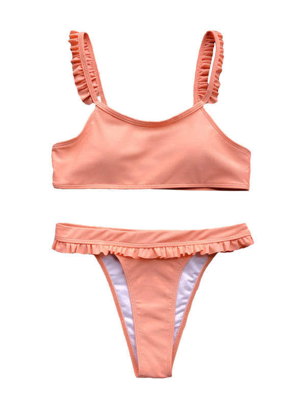 'Tin' Frill Strap High Waist Bikini