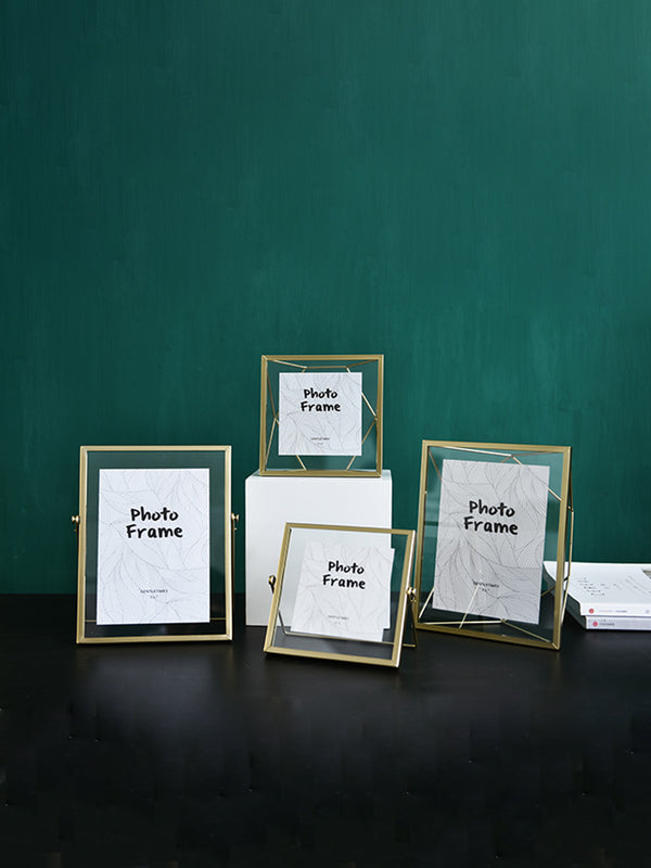 'Burch' Minimal Gold Stand Photo Frame (3 Styles)