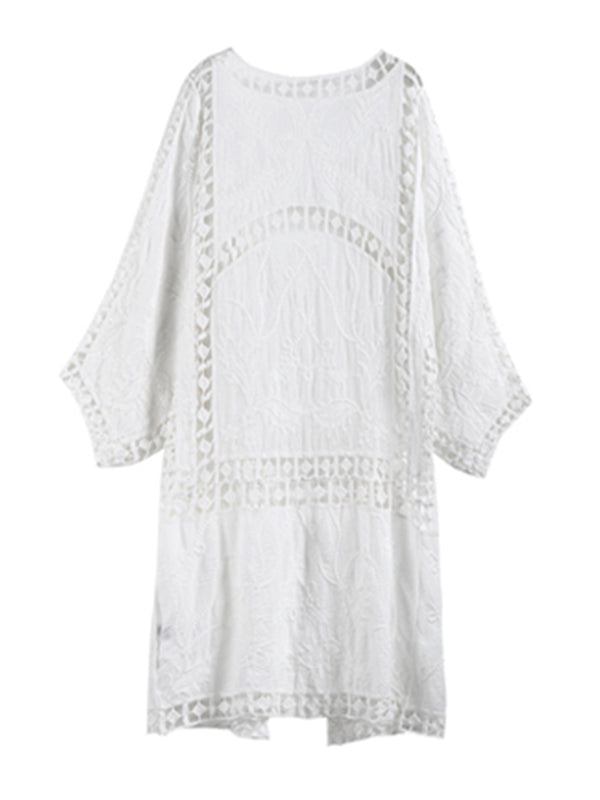 'Cucina' Lace Eyelet Beach Cover-up