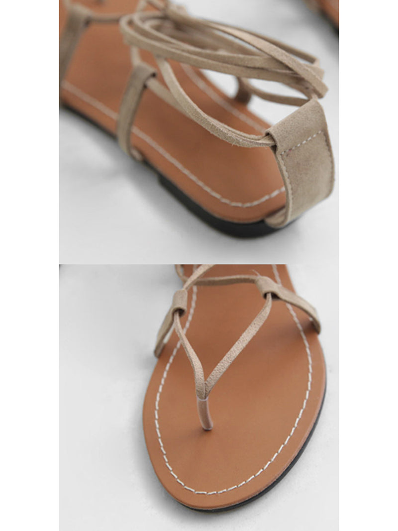 'Folio' Bohemian Lace-up Flats (3 Colors)