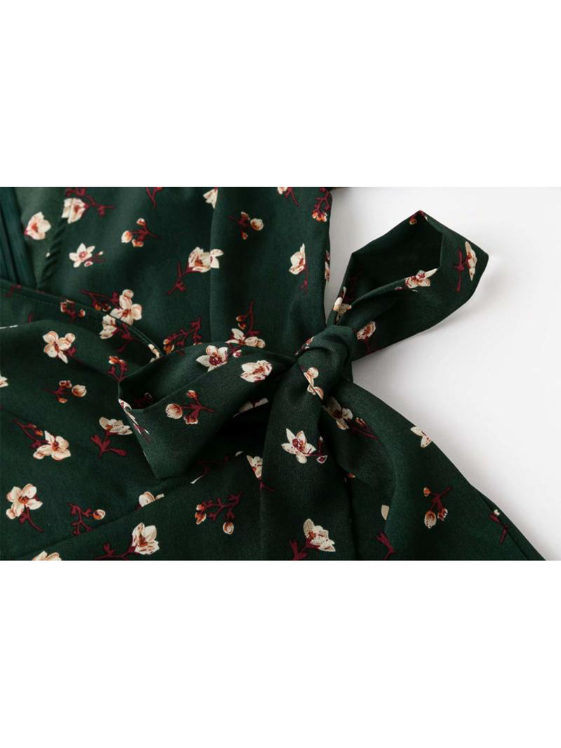 'Ines' Floral Wrap Flare Dress (2 Colors)