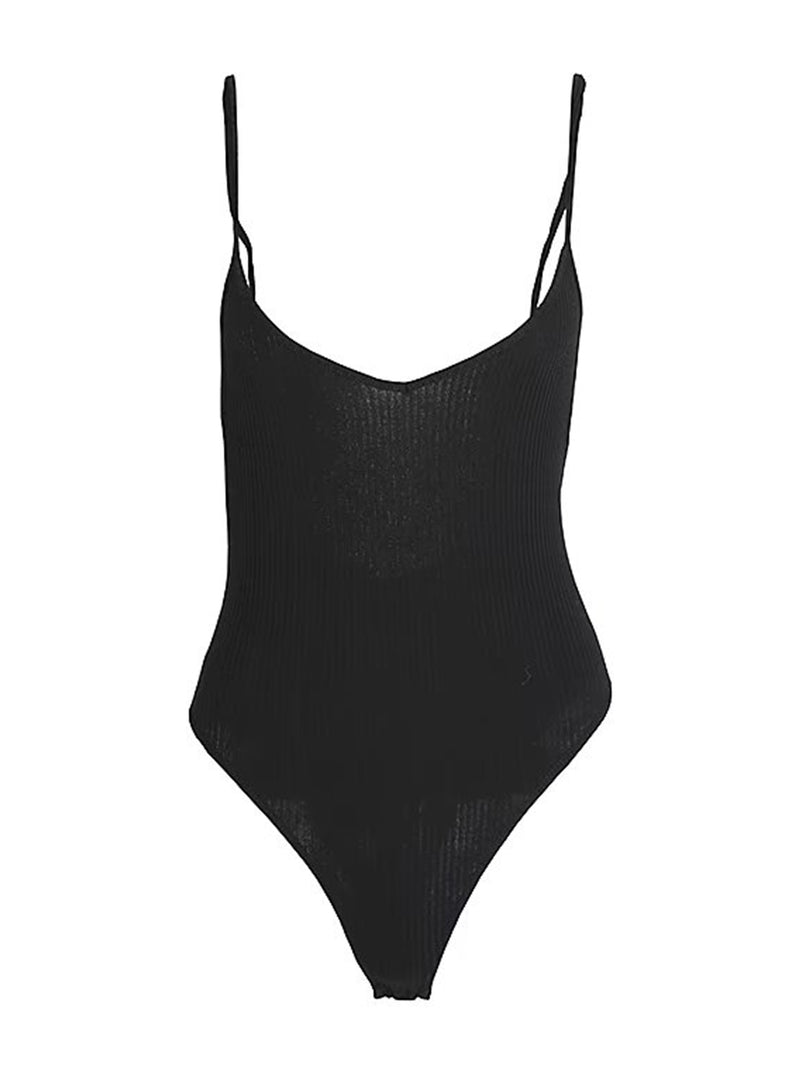 'Ferry' Strap Ribbed Bodysuit (4 Colors)