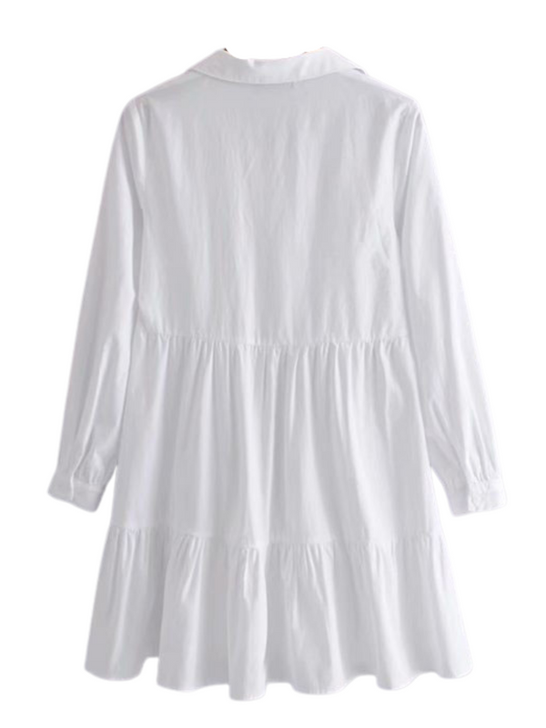 'Zoey' V-neck Shirt Dress