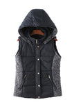 'Vera' Hooded Puffer Vest Black from Goodnight Macaroon