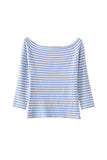 'Andra' Sky Blue Striped Sweater