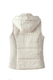 'Vera' Hooded Puffer Vest White Back from Goodnight Macaroon