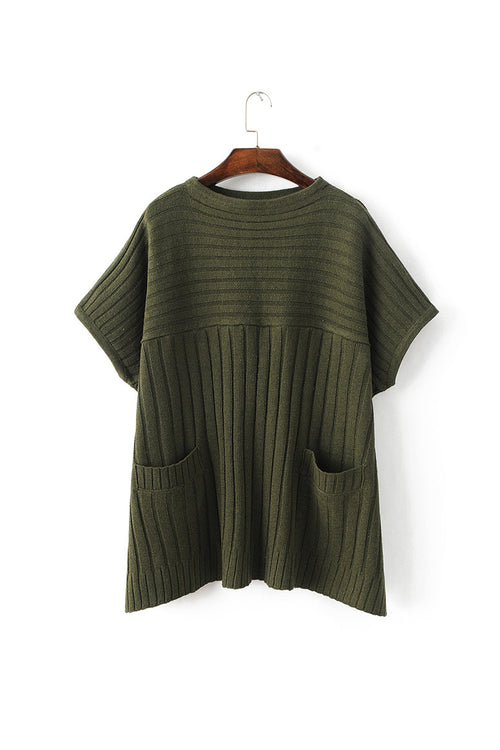 'Sarah' Military Green Sweater