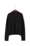 { 2 Colors } 'Lily' High-neck Oat & Black Sweater
