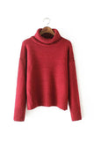 'Jelena' Turtleneck Chunky Cotton Sweater - 5 Colors
