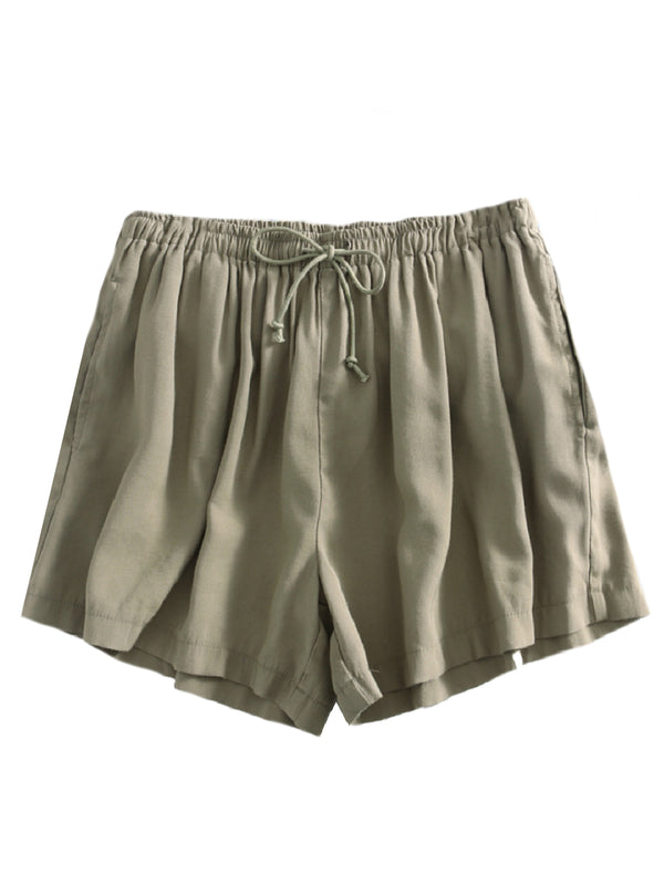 'Gracelyn' Linen Tied Shorts