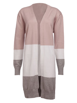 'Gabriella' Colorblock Soft Long Open Cardigan (5 Colors)