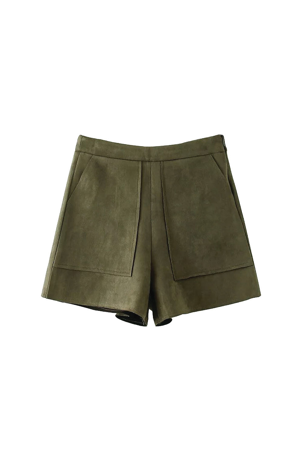 'Gizelle' Faux Suede Leather Shorts from Goodnight Macaroon