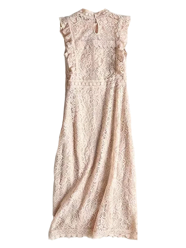 'Lili' Lace Crochet Maxi Statement Dress