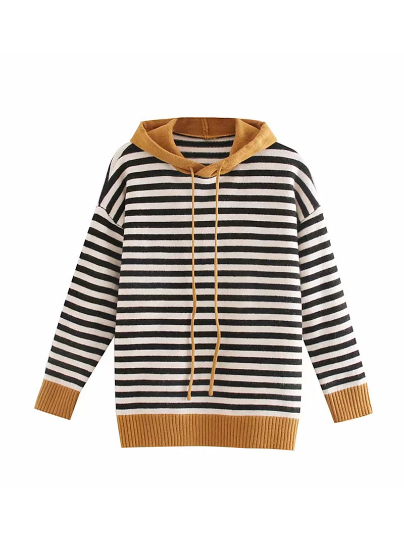 'Skyler' Striped Soft Sweater Hoodie (3 Colors)