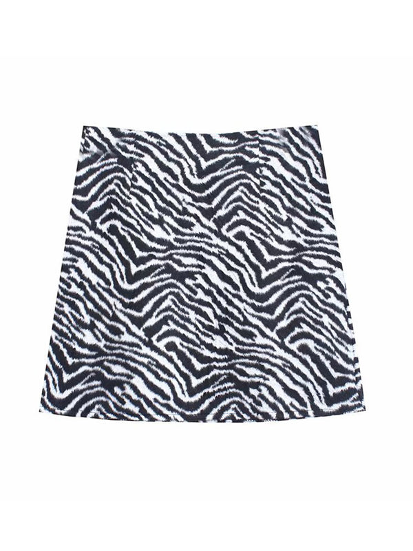 'Kels' Zebra Printed Mini Skirt (2 Colors)