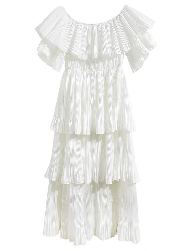 'Sheryl' Off Shoulder Tiered Dress (3 Colors)