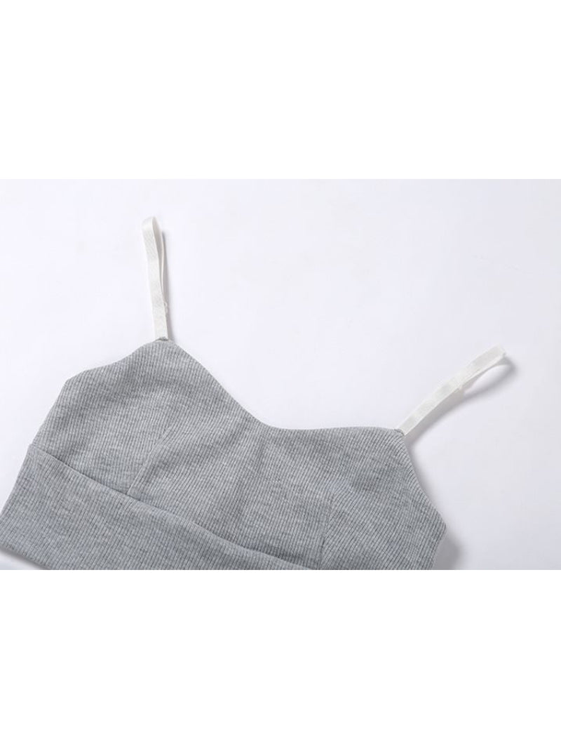 'Ivy' Ribbed Bra Top & Shorts Loungewear (2 Colors)