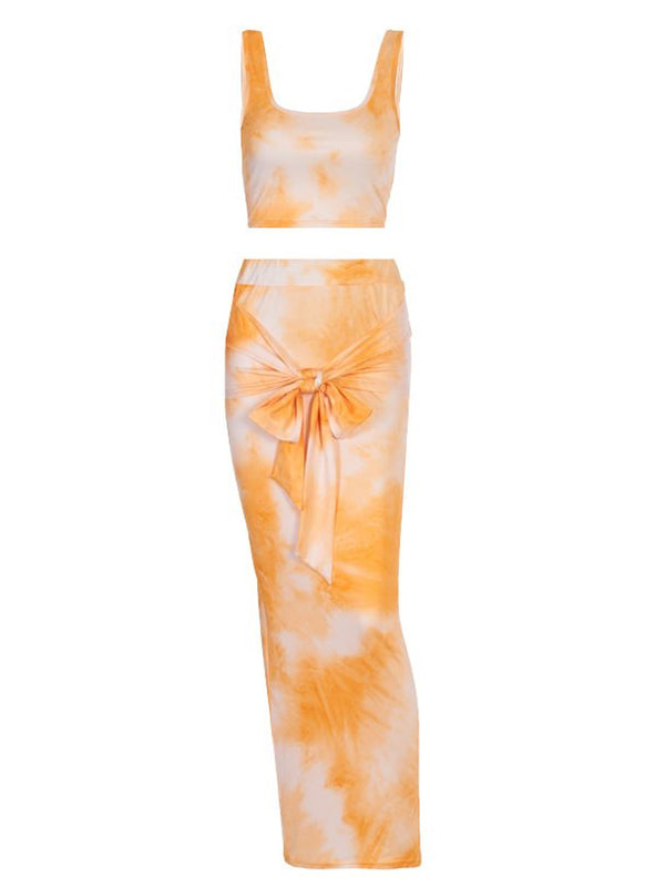 'Maddie' Tie Dye Tied Two-Piece Set (4 Colors)