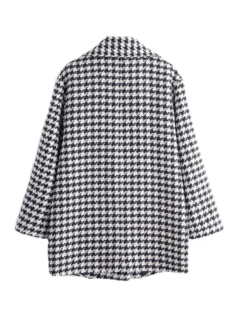 'Laura' Houndstooth Printed Jacket