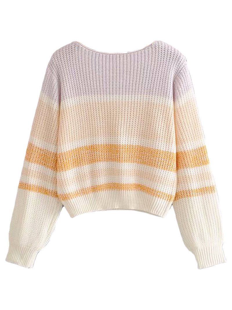 'Dada' Colorblock Soft Lightweight Sweater